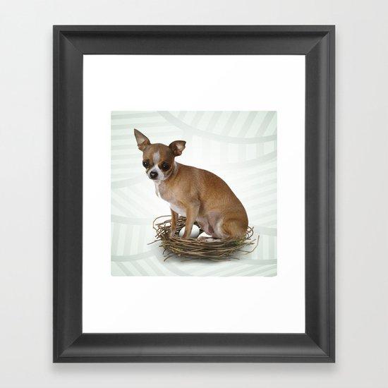 A little confused Framed Art Print