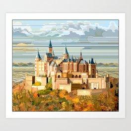 Burg Hohenzollern Germany Art Print