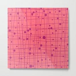Woven Web pink Metal Print