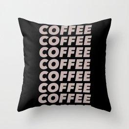 Coff-infinity Throw Pillow