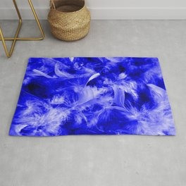 Colorful Feathers,blue Rug