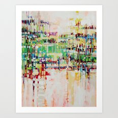 ABSTRACTION island Art Print