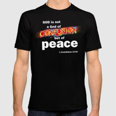 No Confusion Mens Fitted Tee MEDIUM Black