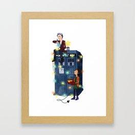Doctor Who: It's Christmas! Framed Art Print