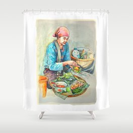 The javanese salad or pecel Shower Curtain