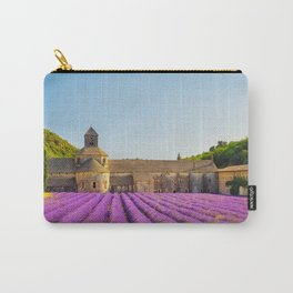 Senanque Abbey and lavender flowers. Carry-All Pouch