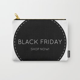 Black Friday shopping sign : Shop now! Stylish icon BW Carry-All Pouch