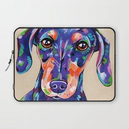 Peanut - Daschund Sausage Dog Art Laptop Sleeve
