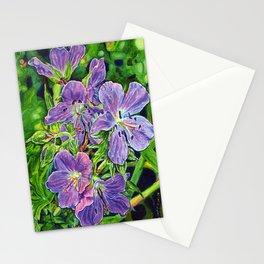 Six Wild Geraniums Stationery Cards