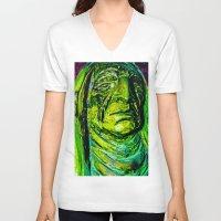 tribal V-neck T-shirts featuring Tribal by Dan Q. Swords