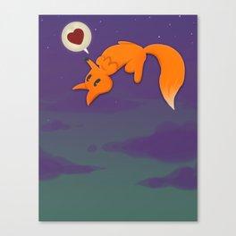 Fox&Moon Canvas Print