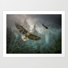 Valley of the eagles Art Print