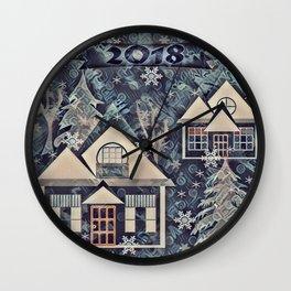 Christmas , Countryside Wall Clock
