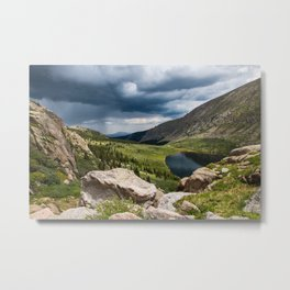 Storm Coming Up the Valley Metal Print