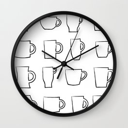 Mug Assortment Wall Clock