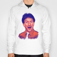 robin williams Hoodies featuring Young Robin Williams  by Thubakabra