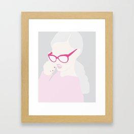 Frames In Pink Framed Art Print