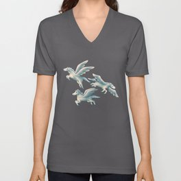 Flying horse. Free to fly. Unisex V-Neck