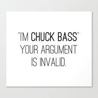 gossip girl Canvas Prints featuring GOSSIP GIRL | I'm Chuck Bass by fepersiani