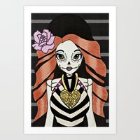monster high Art Prints featuring Skelita - Monster High by Jeeny Trindade