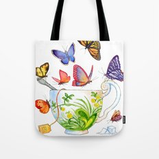 Butterfly Tea Tote Bag