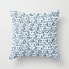 cats new colour 585 Throw Pillow