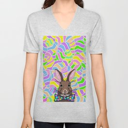 Easter Bunny Easter Eggs - Happy Easter Unisex V-Neck