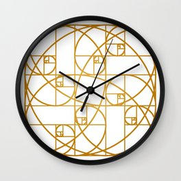 Golden Ropes Wall Clock