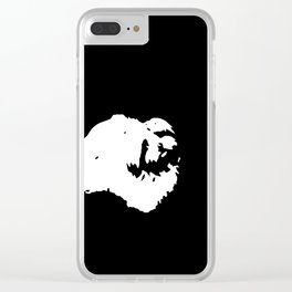 White-and-black dog Clear iPhone Case