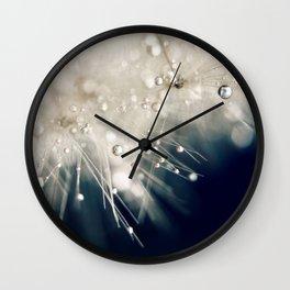 dandelion evening blue Wall Clock