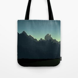 Cloudscape Blue and Green Tote Bag
