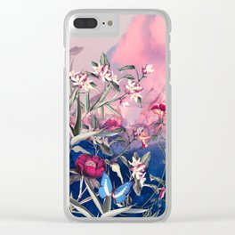 Scarlet Haze Clear iPhone Case