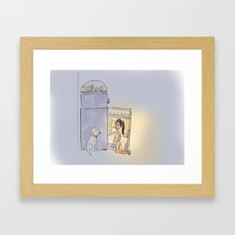 Midnight snacks Framed Art Print