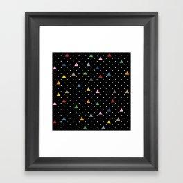 Pin Point Triangles Black Framed Art Print