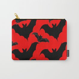HALLOWEEN BATS ON BLOOD RED DESIGN Carry-All Pouch
