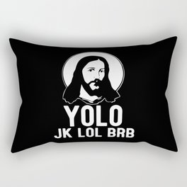 Jesus Jesus Christ Jesus Figure Catholic Rectangular Pillow