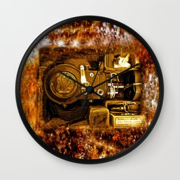 Vintage Victor Camera HDR Wall Clock
