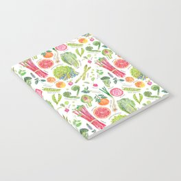 Spring Harvest Pattern Annotated Notebook