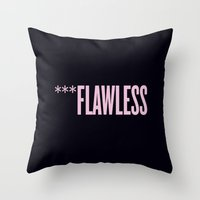 flawless Throw Pillows featuring ***Flawless by Marianna