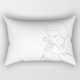 The Good Shepherd line drawing Rectangular Pillow
