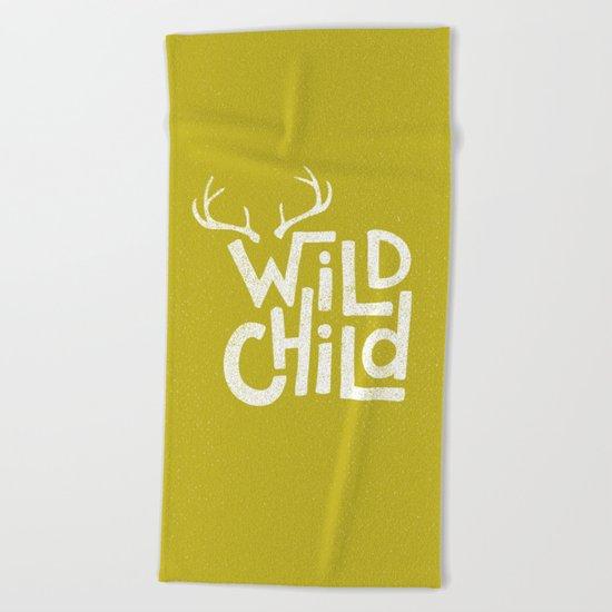WILD CHILD Beach Towel