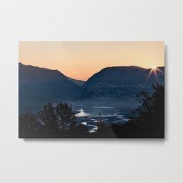 Barrea lake, Abruzzo National Park, Italy Metal Print
