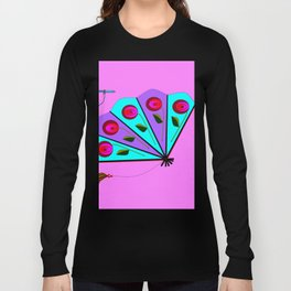 A Lavender and Blue Fan with Tassel Long Sleeve T-shirt