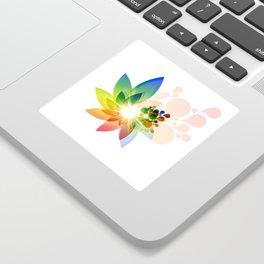 Modern flower design artwork Sticker