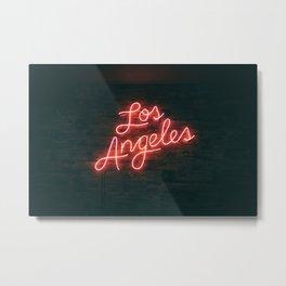 Los Angeles Neon Metal Print