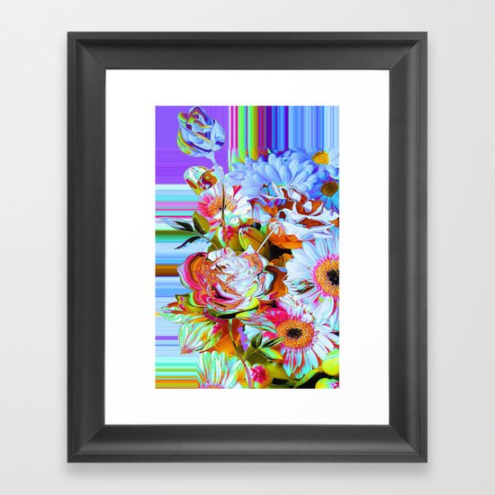 Wild Floral Abstract Framed Art Print