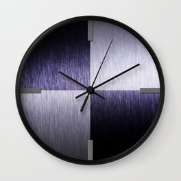 Abstract Modern Brushed Metal - Round Wall Clock Wall Clock