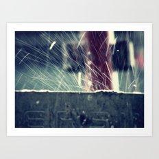 Rain splash 2 Art Print