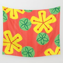 Retro Bright Floral Wall Tapestry