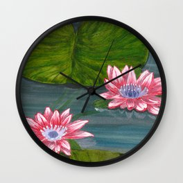 Water Lilies 2 Wall Clock